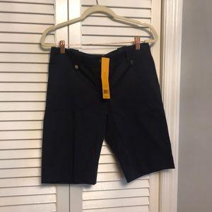 Tory Burch navy Kinny Bermuda shorts 6